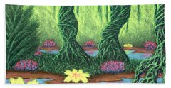 Swamp Things 02, Diptych Panel A Beach Towel