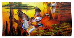 Swamp Woodies Beach Towel