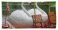 Swan Boat Boston Common Beach Sheet