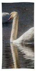 Beach Sheet featuring the photograph Swan by David Bearden