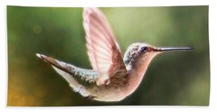 Swan Dive Hummingbird Beach Towel