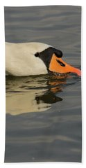 Swan Head  Beach Towel