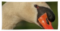 Swan Headshot Beach Sheet