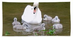 Swan Lake 1 Beach Towel by Bill Holkham