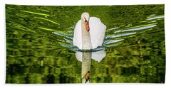 Swan Lake Nature Photo 892 Beach Towel