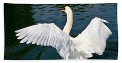 Swan Moment Beach Towel
