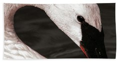 Beach Towel featuring the photograph Swan Neck by Jean Noren