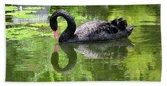 Swan Of Hearts Beach Sheet