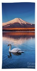 Beach Towel featuring the photograph Swany by Tatsuya Atarashi