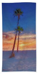 Beach Towel featuring the photograph Swaying Palms by Marvin Spates