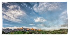 Beach Sheet featuring the photograph Sweeping Clouds by Jon Glaser