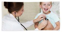 Sweet Child Visiting Doctor Beach Sheet