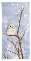 Beach Towel featuring the painting Sweet Cold by Veronica Minozzi