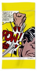 Sweet Dreams Baby Beach Sheet by Roy Lichtenstein