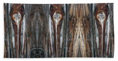 Sweet Faces Seen On A Picket Fence Beach Towel