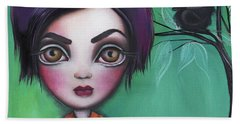 Sweet Girl Beach Towel by Abril Andrade Griffith