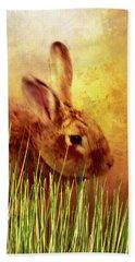 Sweet Little Bunny Face Beach Sheet