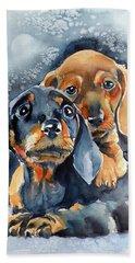 Sweet Little Dogs Beach Sheet