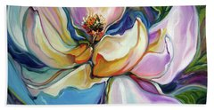 Sweet Magnoli Floral Abstract Beach Towel
