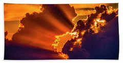 Sweet Nebraska Crepuscular Rays 010 Beach Towel