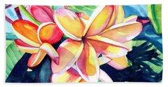 Sweet Plumeria 2 Beach Sheet