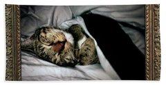 Beach Towel featuring the photograph Sweet Simba Photo A8117 by Mas Art Studio