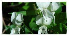 Sweet White Violets Dspf0405 Beach Sheet