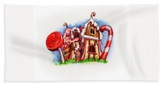 Sweety House Beach Towel