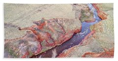 swift creek at  Colorado foothills - aerial view Beach Towel