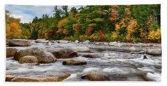 Swift River Runs Through Fall Colors Beach Towel