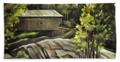 Swiftwater Covered Bridge Beach Towel