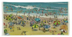 Swimming At Virginia Beach Beach Towel