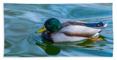 Swimming Duck Beach Towel by Pamela Williams