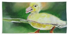 Swimming Duckling Beach Towel