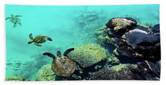 Swimming Honu Beach Towel