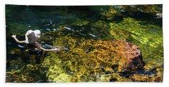 swimming in the Buley Rockhole waterfalls Beach Sheet