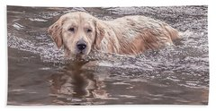 Swimming Puppy Beach Sheet