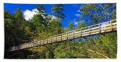 Toccoa River Swinging Bridge Beach Towel