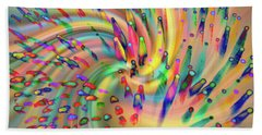 Swirligigs Beach Towel by Cathy Donohoue