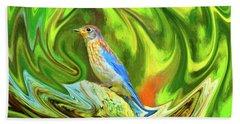 Swirling Bluebird  Beach Sheet