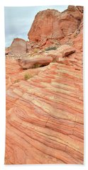 Beach Towel featuring the photograph Swirling Sandstone Color In Valley Of Fire by Ray Mathis