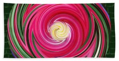 Swirls Of Color Beach Towel by Sue Melvin
