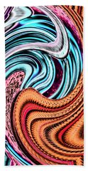 Swirly Abstract 7179a Beach Towel
