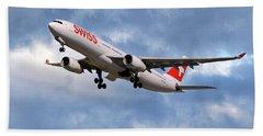 Swiss Airbus A330-343 Beach Towel