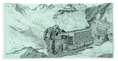 Swiss Alpine Cabin Beach Sheet