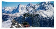 Switzerland Alps Schilthorn Bahn Cable Car  Beach Towel