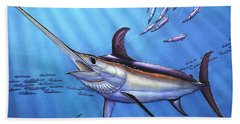 Swordfish In Freedom Beach Towel