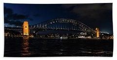 Sydney Bridge At Night Beach Towel