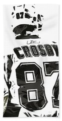 Sydney Crosby Pittsburgh Penguins Pixel Art 2 Beach Towel