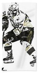 Sydney Crosby Pittsburgh Penguins Pixel Art3 Beach Towel by Joe Hamilton